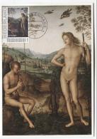 CM Netherlands Carte Maximum Maximum  Card Nude  Apollo And Daphnis Perugino 1490 Mythology - Nudes