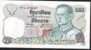 THAILAND  P88a   20 BAHT  1981 #77L   Signature 53 VF NO P.h. ! - Thailand