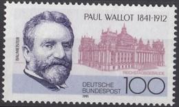 E130- Germany BRD 1991. Paul Wallot 1841-1912. - Germany