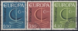 PORTUGAL 1966 Nº 993/95 USADO - 1910-... République
