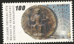 E133- GERMANY 1990. GRANTING OF FAIR PRIVILEGES TO FRANKFURT BY FREDERICK II, 750TH ANNIVERSARY, COIN. - Germany