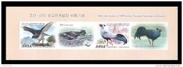 North Korea 2015 Mih. 6203B/04B Fauna. Birds (booklet Sheet) (imperf) (joint Issue North Korea-Thailand) MNH ** - Korea, North