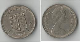 RHODESIE 10  CENTS 1964 - Rhodésie