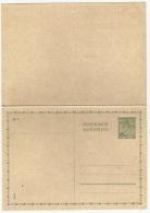 Bohemia & Moravia 1939 German Occupation Postal Card + Reply - Bohême & Moravie