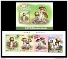 North Korea 2017 Mih. 6385B/88B Flora. Matsutake (Pine Mushrooms) (booklet) (imperf) MNH ** - Corea Del Norte