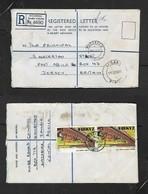 Zambai Registered  30n,MAZABUKA 15 FEB 77 > Jersey G.B.) , LUSAKA Transit - Zambia (1965-...)
