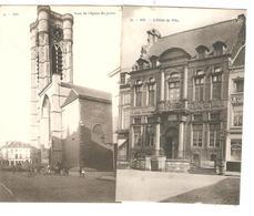 Belgique-België 4 CP Ath Eglise St.Julien Animée-Hôtel De Ville-Cortège M&Mme Goliath Animée-Grand-Place 1824 - Ath