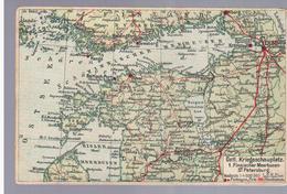 Östl Kriegsschauplatz 1. Finnischer Meerbusen- St Petersburg Landkarte MAP Ca 1915, 2 Scans - Estonie