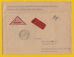 WERTBRIEF NACH LANGENLEBARN,BEI WIEN MIT BRIEFMARKEN MIT ABARTEN. - 1940-1944 Occupation Allemande