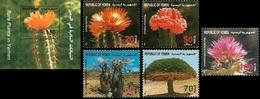 Yemen 1996, Flora, Cactus, 5val +BF - Sukkulenten
