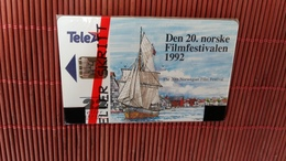 Phonecard Norway 22 Units  20th Filmfestival  New With Bister 2 Scans With Number  41800 On Backside Only 2000 Made RRRR - Norway