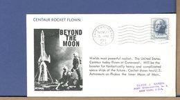 USA - 1963 - CENTAUR ROCKET FLOWN - BEYOND THE MOON - Etats-Unis