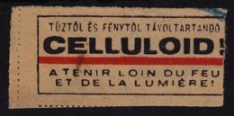 Celluloid / Tenir Loin Du Feu Et De La Lumière CINEMA MOVIE Film - Postal Vignette Label - Hungary / FIRE LIGHT - Cinema