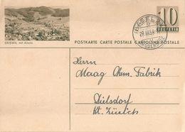 "PK 182  ""Eriswil Mit Ahorn""           1954 - Enteros Postales"