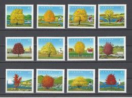 CANADA. YT  1367/1378  Neuf **  Fête Du Canada. Variétés D'érables  1994 - 1952-.... Règne D'Elizabeth II