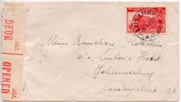 Congo - Afrique Du Sud - Censored Censure - Ww 2 - Lusambo Censeur 2 -  Johannesburg ( B Violet) -  1943 -  J4 - Congo Belge