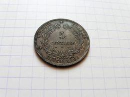 1872 K Ceres 5 Centimes Torche  Atelier De Bordeaux Surplus De Métal à 20heures Ce N'est Pas Un Choc - Francia