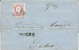 PORTUGAL - Lettre Afranchie Avec Timbre Yvert Nº 15 - 1855-1858 : D.Pedro V