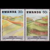 RWANDA 1983 - Scott# 1146-9 Soil Erosion 30-70f LH - Rwanda