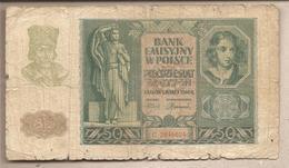Polonia - Banconota Circolata Da 50 Zloty P-96 - 1940 - Polonia