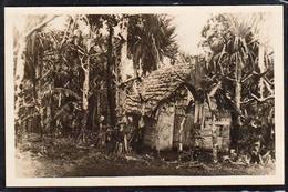 ST. PHILIPPE LES VACOAS (Ile De La Réunion) Plan TOP Sur Une Maison Indigène. RARE Carte Photo. - Autres