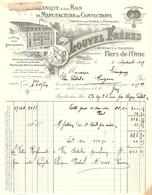 FACTURE 1929 LOUVEL FRERES FLERS DE L'ORNE - DRAPS VESTES VAREUSES PANTALONS - LOGO USINE - Textile & Clothing