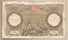 "Italia - Banconota Circolata Da 100 Lire ""Aquila"" P-55b.6 - 1937 - [ 1] …-1946 : Royaume"