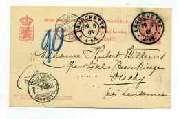 Entier  De LA ROCHETTE Duché Du Luxembourg Pour OUCHY En SUISSE / 19 Aout 1905 - 1895 Adolphe Right-hand Side