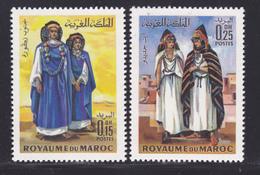 MAROC N°  582 &  583 ** MNH Neufs Sans Charnière, TB (D7053) Costumes - Morocco (1956-...)