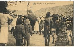 Bangui Un Jeu Du 14 Juillet 1924 Mat De Cocagne  Jeune Fille Nue En String  Edit Nels - Centrafricaine (République)