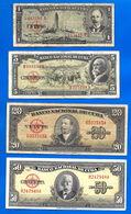 Lot Cuba 1 5 20 50 Pesos 1958 Peso Centavos Kuba Paypal Skrill Bitcoin OK - Cuba