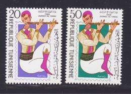 TUNISIE N°  653 & 654 ** MNH Neufs Sans Charnière, TB (D7057) Journée Du Timbre - Tunisia