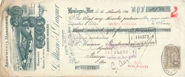 237/20 - FRANCE Mandat Illustré Médailles Expositions BOULOGNE S/Mer 1910 - Poissons En Gros   - TP Fiscal 10 C. - Expositions Universelles