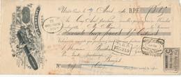 238/20 - FRANCE Mandat Illustré Médailles Expositions UZES 1910 - Réglisse Aubrespy   - TP Fiscal 5 C. - Expositions Universelles