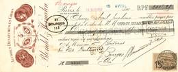 241/20 - FRANCE Mandat Illustré Médailles Expositions PARIS 1903 - Alcools Dénaturés Blondel - TP Fiscal 15 C. - Expositions Universelles