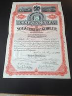 """Action Mexique 1903 - Mines De """"Copernico"""" 20 $ Superbe - Autres"""