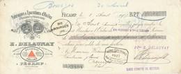 244/20 - FRANCE Mandat Illustré Médailles Expositions FECAMP 1905 - Huiles Delaunay - TP Fiscal 5 C. - Expositions Universelles