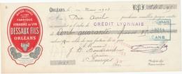245/20 - FRANCE Mandat Illustré Médailles Expositions ORLEANS 1903 - Vinaigre De Vin Dessaux - TP Fiscal 10 C. - Expositions Universelles