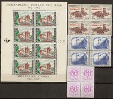 BELG.1957-62 Lotje Zegels In Blokjes,heel Mooi - Bloques 1924 – 1960