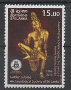 SRI LANKA, 2016, MNH,  ARCHAEOLOGY,  STATUES, ARCHAEOLOGICAL SOCIETY, 1v - Archaeology