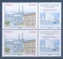 N° 5142 Cholet Valeur Faciale 0,73 Euros X2 - France