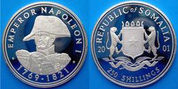 SOMALIA 250 S 2001 ARGENTO PROOF SILVER NAPOLEONE PESO 20g TITOLO 0,925 CONSERVAZIONE FONDO SPECCHIO UNC - Somalia