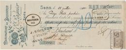 248/20 - FRANCE Mandat Illustré Médailles Expositions SENS 1910 - Brosserie Pagnier Ex-Ardilly - TP Fiscal 5 C. - Expositions Universelles