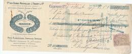 252/20 - FRANCE Mandat Illustré Médailles Expositions CLERMONT FERRAND 1905 - Pates Alim. Magnin - TP Fiscal 10 C. - Expositions Universelles