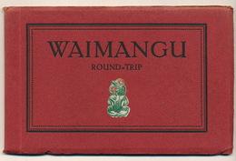 Waimangu Round Trip Booklet Of 10 Old Postcards Lakes, Tarawera, Guide Sophia , House Destroyed Volcano - Nouvelle-Zélande