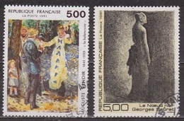 Art, Peinture - Renoir: La Balançoire - FRANCE - Georges Seurat: Le Noeud Noir - N° 2692-2693 - 1991 - France