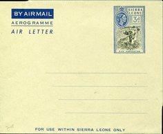 33684 Sierra Leone, Aerogramme Air Letter  3d.. Showing A Rice Harvesting,récolte De Riz,Reisernte - Sierra Leone (...-1960)