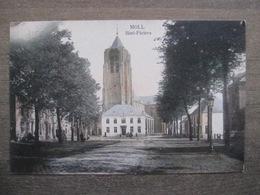 Cpa Moll Mol - Sint-Pieters - Place église - Calèches - 1908 - Marco Marcovici - Mol