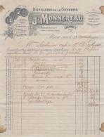 31 2442 MURET HAUTE GARONNE 1920 DISTILLERIE DE LA GUYANNE Distillerie J. MONNEREAU Liqueurs Sirop Rhum A SENTENAC - France