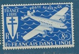 Inde Française  - Aérien     - Yvert N°   5  *  Bce 12007 - India (1892-1954)